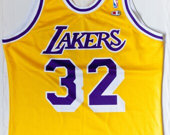 Magic Johnson Los Angeles Lakers NBA Champion basketball jersey vintage