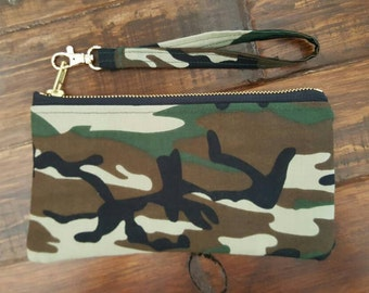 Army Purse, Army Wristlet, Military Purse, Army Pouch, camouflage bag