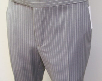 Zanella men's grey pinstripe slim wool pants 33