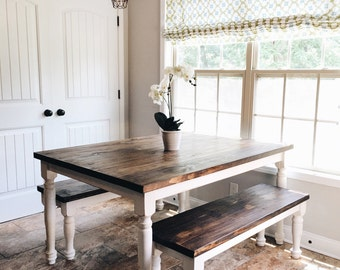 """Farmhouse Table and Bench  72""""X42"""""""