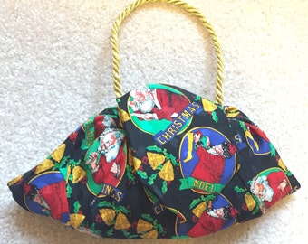 Purses made from Neckties, Purses made from Ties, Necktie Purses, Tie Purses, Christmas purse, Holiday purse, Santa purse