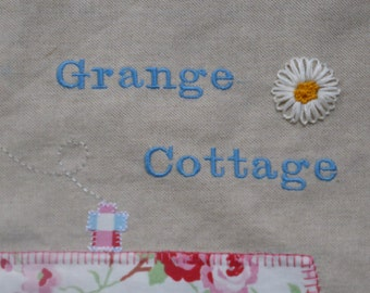 Your house on a cushion! You provide the picture and I will make it in applique and embroidery. Perfect new home gift!