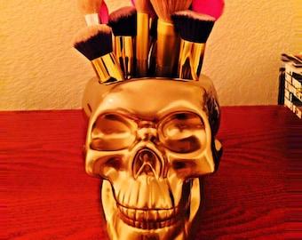 Skull Make Up Brush Holder