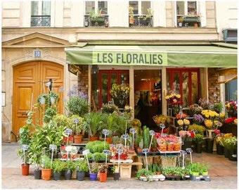 florist shop, Paris decor, beautiful  flowers, wall art, paris print, French Architecture, French Wall Art