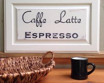 Caffe Latte Espresso sign