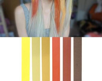 BRONDE Brown Blonde Ombre Hair Chalk Set of 6   DIY bronde hair dye for easy and simple hair coloring