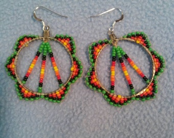 Funky Seed Bead Earrings with Sterling Silver Wires
