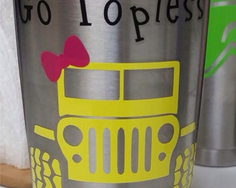 Jeep Decal Yeti Etsy - Jeep vinyls for yeti cups