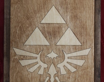 Zelda Tri Force Wooden Inlay Wall Art