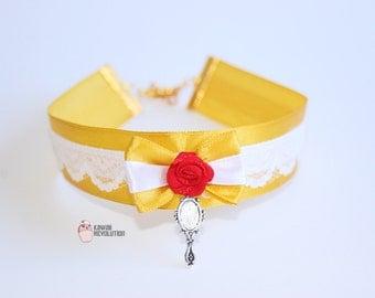 Choker Princess Beauty Yellow Pastel Goth Kawaii Cosplay ddlg beast kitten play collar