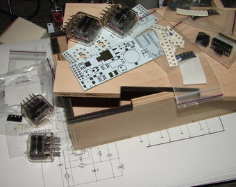 Nixie tube clock kit 2.1 with IN-12 Tubes in wood box