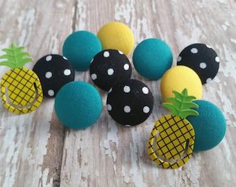 Thumbtack set, 12 pc Push Pin set, Thumb tacks, Cubicle, Decorative pushpin, Pushpin, Pineapple decor, Gifts under 20, Easter Basket Gifts