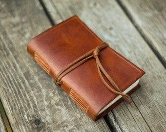 Outlander // Leather Travel Journal with Clasp // Blank Pages // Light Brown