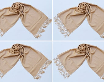 4 LIGHT GOLD PASHMINA,pashmina scarf,pashmina shawl,bridesmaid shawls,Pashmina Wedding,scarf, shawl, scarves 006