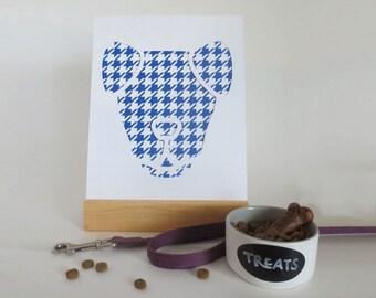 Folded-Ear Dog Cut Paper Silhouette