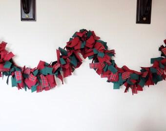 Christmas garland, rag swag, rag garland