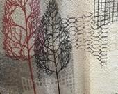 Barkcloth curtains 1960s vintage Midcentury