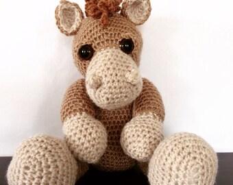 Vintage Crochet Horse Teddy.