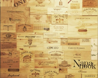 20 Assorted & Branded Wine Crate Panels  (Wood Wine Box) Sides/Ends/Tops.
