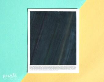 Watercolor Art Print // 8x10 // 11x14 // 16x20 // Gift // Pale Blue Dot // Carl Sagan // Wall Decor // Blue // Green // Dot // Poster