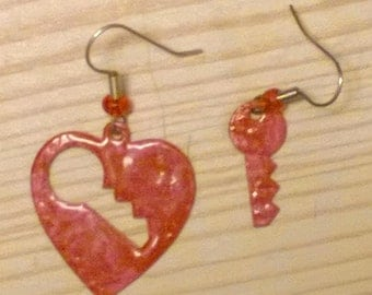 Complimentary Key To My Heart earrings