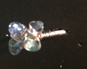 Blue stone chip ring
