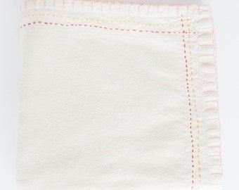 Hand Embroidered Heirloom Baby Blanket or Swaddle #300