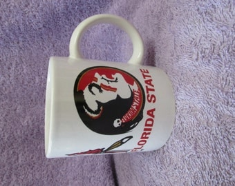 Ceramic Collector Coffee Cup with Florida Seminoles on it (Decal)