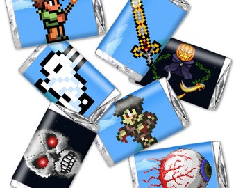 Terraria Mini Candy Wrappers - fits hershey's miniatures - DIGITAL DOWNLOAD