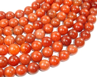 Red Dragon Veins Agate Beads, 14mm Round Beads, 14.5 Inch, Full strand, 27 beads, Hole 1mm (122054171)