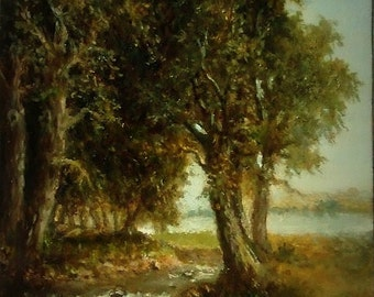 Original ACEO Painting, Landscape Painting, ACEO Masterpiece, Oil on Copper