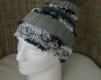 Gradient Gray wool Cap