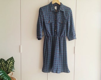 SALE - Vintage Dress - Retro Fashion - Vintage Clothing - 80s Dress -Office Fashion
