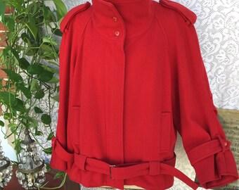 Wool Kiodo. Perfecto jacket. Very british style. Deep red. So eighties!