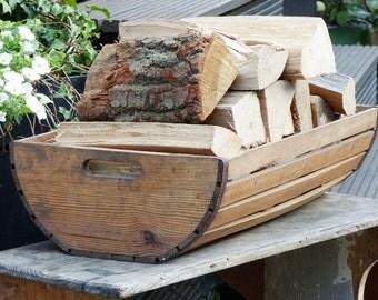 Vintage wood basket / Potato basket / wooden vintage basket