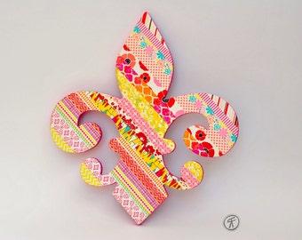 Washi Tape Fleur de lis Wall Art 3D Collage New Orleans Saints NOLA