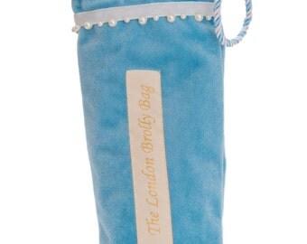 Blue velvet brolly bag - DR103