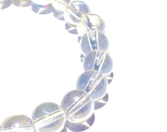 ANGEL AURA QUARTZ Gemstone Bracelet. ~ Serenity ~ Divine Connection ~ Spirit communication ~ Intuition ~ Meditation ~ Connect to angels