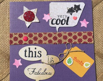 Thank you greeting card - mixed texture - this is fabulous - very cool - thanks - gift appreciation