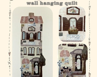 Quilt house -wall hanging quilt -  PDF pattern by MJJenekdesigns