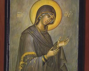 Virgin praying,Panagia Deomeni  Christian Orthodox religious gift.Christian orthodox icon.FREE SHIPPING