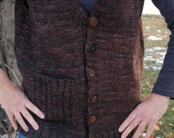 Easy to knit Vest, Knitted Vest, Invested Vest, Knitting Pattern, Vest Knitting Pattern, Womens Knit Vest