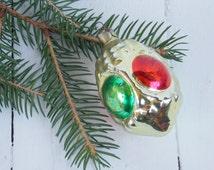 Christmas glass toy Glass ornament Russian Ornament Rare xmas ornament Christmas soviet Christmas tree decor Tree decoration
