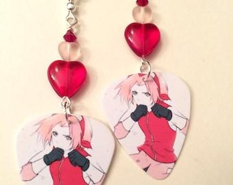 Anime' Guitar Pick Earrings