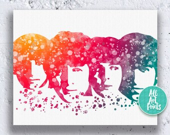 Beatles Print Beatles Poster Watercolor Printable Art Beatles Art Print Beatles Printable Beatles Wall Art Instant Download Printable Art