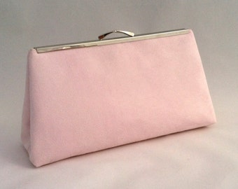 Pink Suede Handbag ~ Ready to Ship