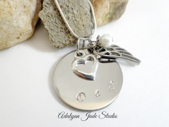 memorial necklace in loving memory jewelry for