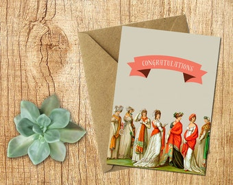 INSTANT DOWNLOAD Congratulations card, Wedding Card, Graduation Card, Greeting Card, Friends Card, Blank Greeting Card, Art Card