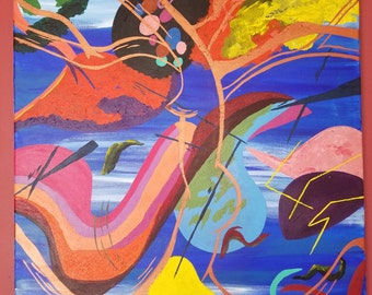 """Original Abstract Art, one of a kind, 24""""x30"""", Acrylic on Canvas"""