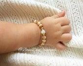 MOTHERS LOVE Mother of pearl bracelet Baby Bracelet Mommy and me bracelet set